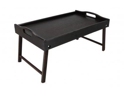 Drevený servírovací stolík do postele 50x30 cm tmavý