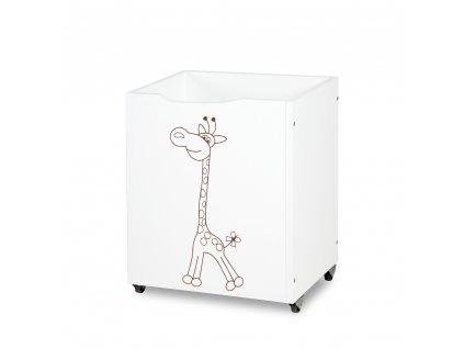 Kôš na hračky žirafa biely