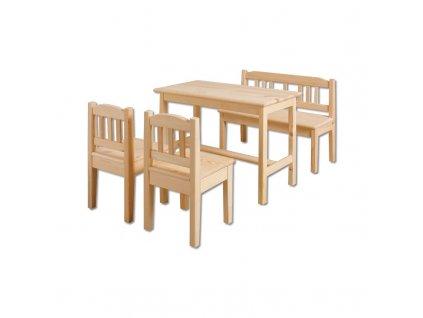 Drevený stolček so stoličkami