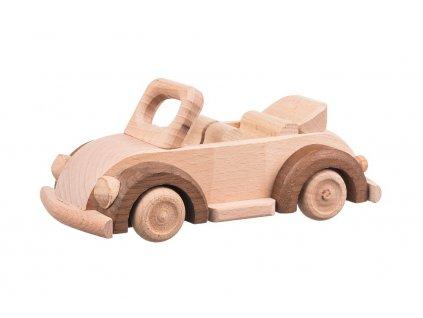 Drevené auto beetle cabrio