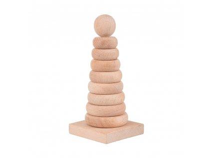 Drevená skládacia pyramída