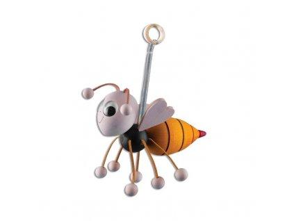 Drevená hojdacia hračka - včielka