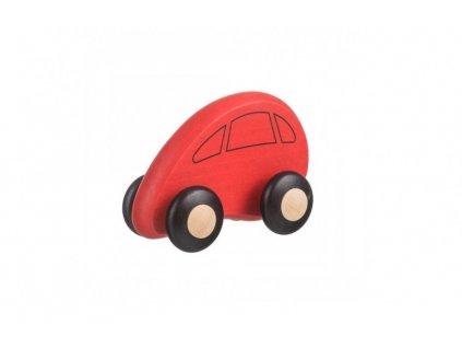 Drevené autíčko červené