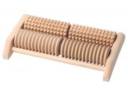 Drevený masážny strojček na chodidlá