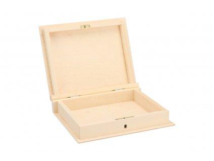 Drevená krabička kniha na kľúč