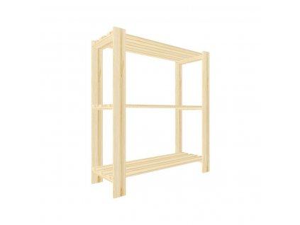 Regál drevený lm3 90 x 80 x 30 cm