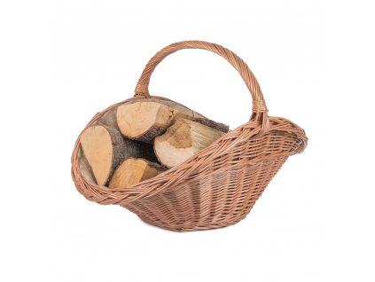 Prútený kôš na drevo prírodný