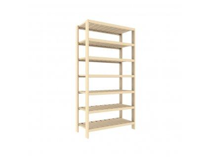 Regál drevený lm7 133 x 70 x 33 cm