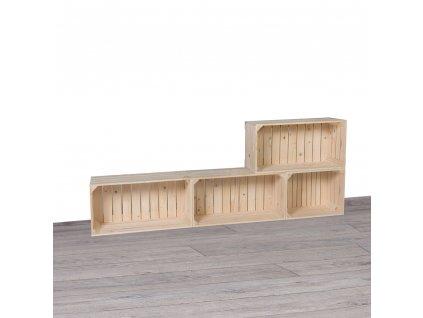 Drevené debničky obývacia stena 160x60x24 cm