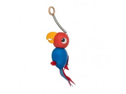 Drevená hojdacia hračka - papagáj