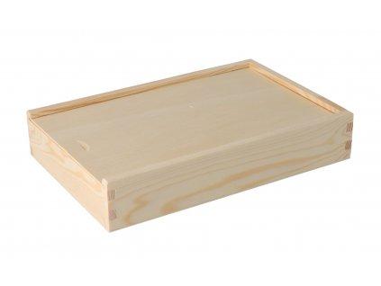 Drevená krabička na fotografie vo formáte 15x21 cm