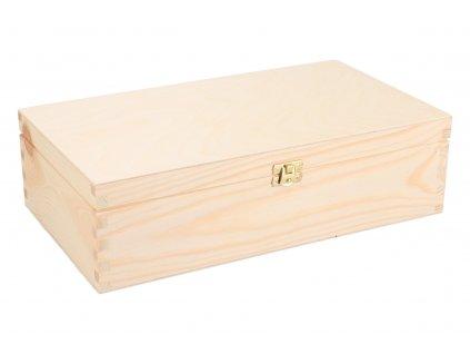 Drevená krabička na 2 vína XI