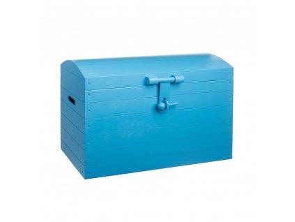 Drevená truhlica modrá