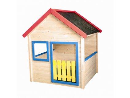 Záhradný domček s farebným lemovaním