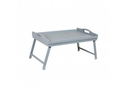 Drevený rozkladací stolík - sivý