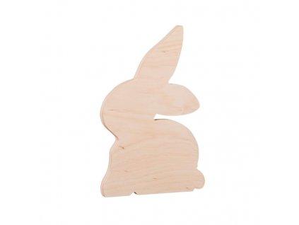 Drevený ozdobný zajac 17 cm