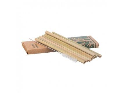 Bambusové slamky - sada 10 ks