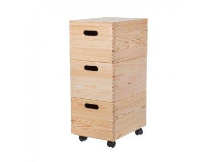 Zostava drevených boxov 40X30X23 CM