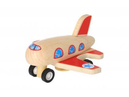 Drevené naťahovacie lietadlo