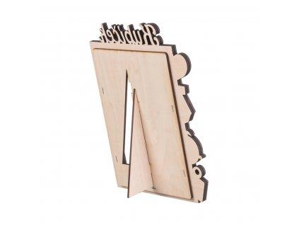 Dřevěný fotorámeček se jménem k narození dítěte