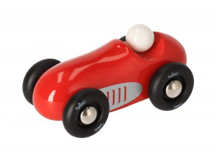 Drevené športové auto mini - červené