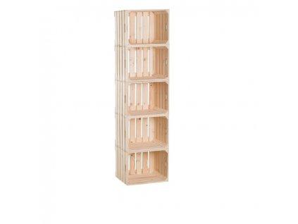 Drevené debničky regál 150 x 40 x 30 cm