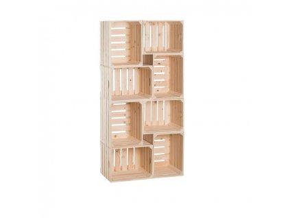 Drevené debničky knižnica 140 x 70 x 30 cm