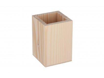 Drevený štvorcový stojan