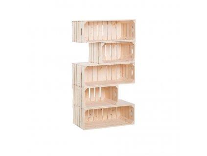 Drevené debničky knižnica 150 x 60 x 30 cm