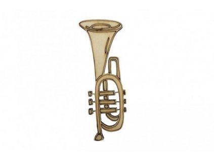 Drevená trúbka 9 x 3,5 cm