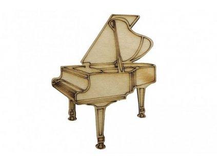 Drevený klavír 7 x 5,5 cm