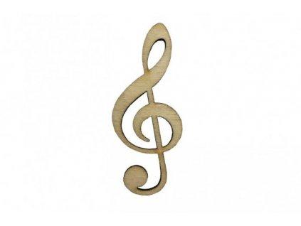 Drevený husľový kľúč 6 x 2,5 cm