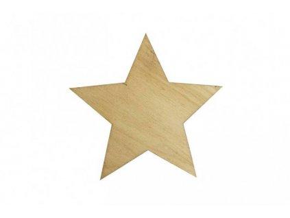 Drevená hviezda 7 x 7,5 cm