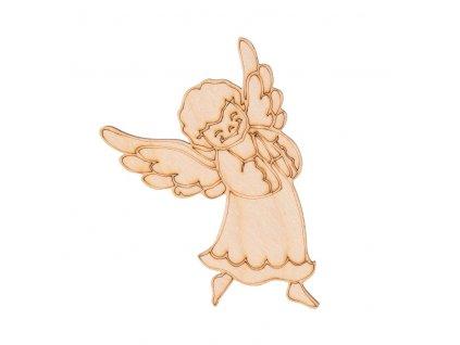 Drevený vianočný anjel III 10 x 7 cm