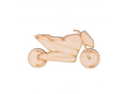 Drevená motorka 3,5 x 7 cm