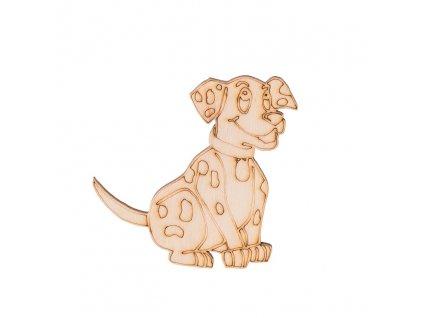 Drevený psík 7 x 6,5 cm