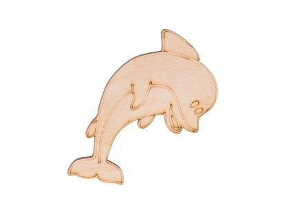 Drevený delfín 9 x 7,5 cm