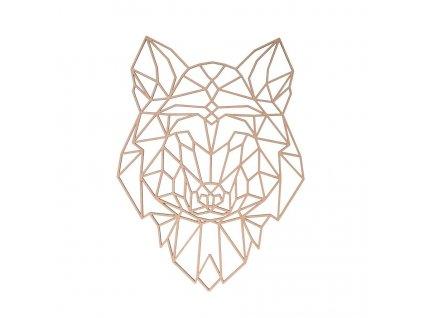 Drevený geometrický obraz - vlk