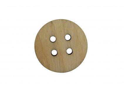 Drevený okrúhlý gombík so štyrmi dierkami