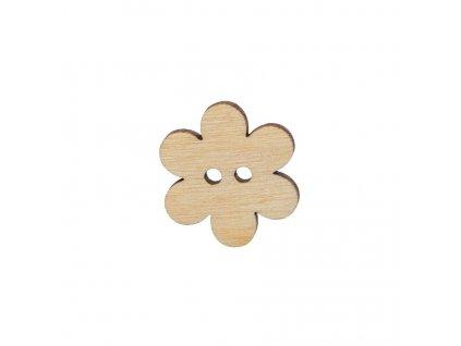 Drevený gombík kvet 2,5 cm