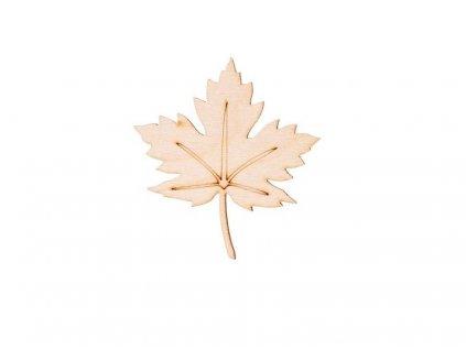 Drevený list III 7,5 x 7 cm