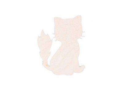 Drevená mačka 8 x 6.5 cm