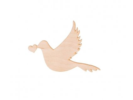 Drevená holubička 10 x 9.5 cm