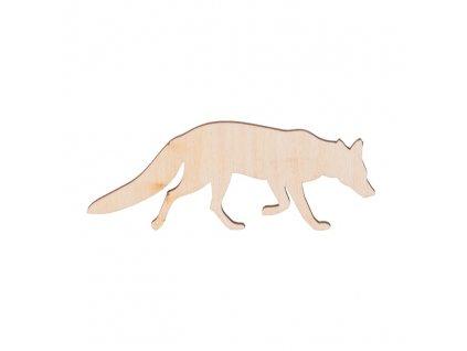Drevená líška 9 x 3.5 cm