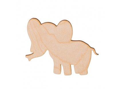 Drevený slon 10 x 8 cm