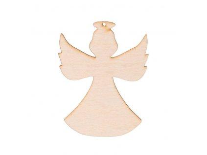 Drevený anjel XIII s dierkou 8 x 6 cm
