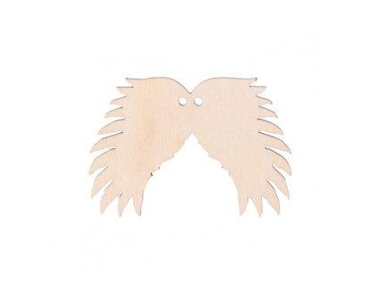 Drevené anjelské krídla III s dierkou 6 x 4 cm