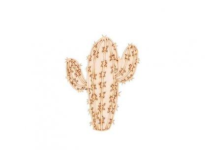 Drevený kaktus IV 9 x 7 cm