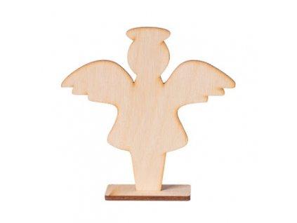 Drevený anjel na stojane I