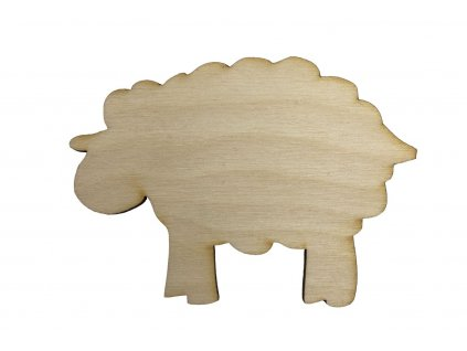 Drevený baranček 6 x 8 cm